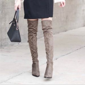 32a1811abcb Marc Fisher Shoes - NWOT Marc Fisher Alinda Over Knee Mid Heeled Boots